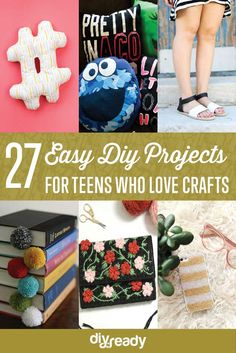 27 Easy DIY Projects for Teens Who Love to Craft-definitely worth looking at! #2 is glow in the dark mason jar fairy lights. Super cool and easy!