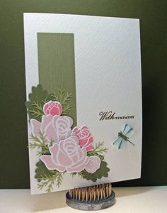 sympathy card with a bunch of flowers in the corner...lovely...