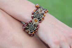 Delicate Micro Macrame Bracelet, Bohemian Style by JJJCrafts on Etsy