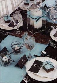 Blue  Brown Wedding Colors