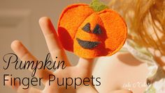 Make a cute and quick felt pumpkin finger puppet for your little ones. Template and tutorial with photos provided.