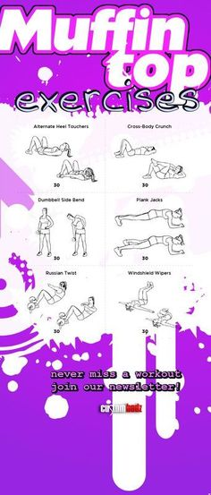You will LOVE this #ab #workout! For more #workouts follow my #fitness blog at http://www.Custombodz.com #abs #abworkout http://www.custombodz.com/fitness-news/get-rid-of-that-muffin-top #Fitness #Workout Pin/Via -