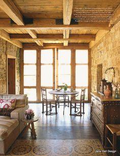 Rustic Style home in Lebanon featured in World of Interior interior design magazine