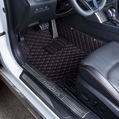 Car Floor Mats Covers top grade anti-scratch fire resistant durable waterproof 5D leather mat For Honda Accord Car-Styling