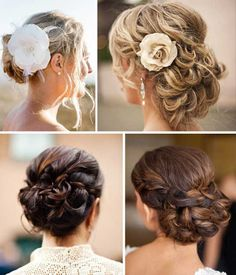 Wedding hair styles: Low up-dos