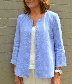 Silva Shirt Jacket Pattern - Patterns - Tessuti Fabrics - Online Fabric Store - Cotton, Linen, Silk, Bridal & more