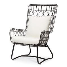 CAPRI OUTDOOR WING CHAIR, BLACK front porch?