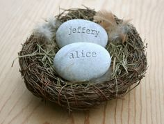 Personalized nest for couple in love  Our nest  by sjengraving, $28.00