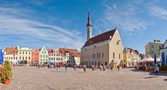 Why not take a ferry from Helsinki to Tallinn and spend one day in Tallinn exploring? Use our one day itinerary for Tallinn to make the most of your trip! City By The Sea, Medieval Town, Most Beautiful Cities, Town Hall, Countries Of The World, Walking Tour, Day Trip, Cool Places To Visit, View Photos