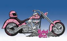 Support breast cancer awareness the FIRST Rebel Girl® die cast motorcycle by Hamilton Collection  with gems, pink ribbon designs, matching helmet and  more.