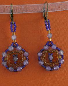 Amethyst Bead Weaved Earrings by BeadafulDesignsbyDL on Etsy, $19.00