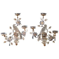 Set of Four Bagues Bird Sconces | From a unique collection of antique and modern wall lights and sconces at https://www.1stdibs.com/furniture/lighting/sconces-wall-lights/