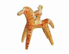 Horseman   Boeotia, Greece   Early Archaic period, 6th century BCE   Terracotta