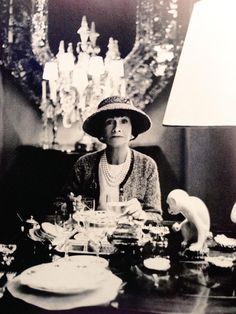Gabrielle 'Coco' Chanel - 1963 - Dining at her apartment in Paris - Photo by Horst P. Horst