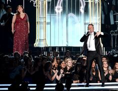 Mary Lambert and Macklemore perform on the 56th Annual GRAMMY Awards on Jan. 26 in Los Angeles