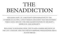 The Beneddiction! LOL (Okay, I think Sherlock needs to come back on air now before the fandom goes insane.)