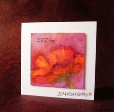 All kind of shades: Aquarel bloemenkaartje - Watercolor Flower Card