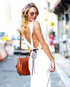Model-Off-Duty Style: Get Candice Swanepoel's Flirty Summer Look via @WhoWhatWear