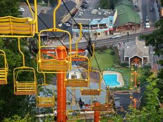 Sky Lift in Gatlinburg, Tennessee Tennessee Smokies, Gatlinburg Tennessee, The Places Youll Go, Places To See, Mountain Vacations, Family Vacations, Gatlinburg Vacation, All I Ever Wanted, Great Smoky Mountains
