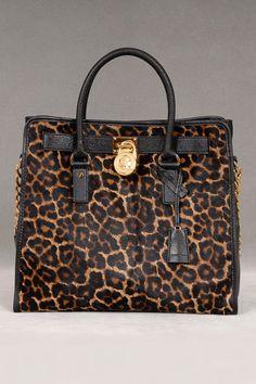 Michael Kors Hamilton N/S Haircalf Tote In Cheetah