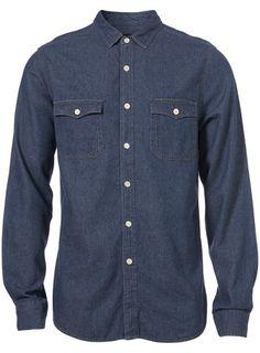 Topman Denim Western Detail Shirt - $60