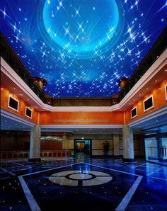 A fiber optic star ceiling! Woah!