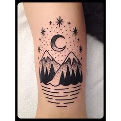 by Christian Lanouette- So simple, so beautiful. Reminds me of Lake Isabella... I would totally dig something like this on me as a dedication to where I grew up! Someday... :)