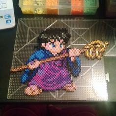 Miroku InuYasha perler beads by mini_minako