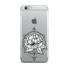 Sacred Geometry Flower iphone 7 clear Transparent TPU Rubber Phone Case Cover by dreamCLOUDshop on Etsy