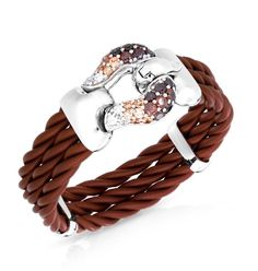 Lasso Brown Bracelet by Belle Étoile - Country Girl. Fashion Jewelry. Silver Fashion. Country Style.