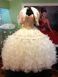 How you can pick out Quinceanera dress for the Quinceanera party -- the standard Latin American ritual that marks the passage of a female from childhood to adulthood. 15 Anos Dresses, Dama Dresses, Quince Dresses, Mexican Quinceanera Dresses, Mexican Dresses, Quinceanera Party, Charro Dresses, Vestido Charro, Quinceanera Collection