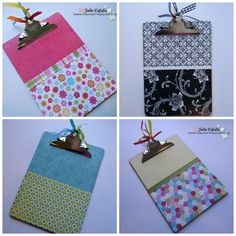 Decorating & Organizing with Clipboards Tutorial - The Crafty Quilter Scrapbooking, Scrapbook Paper, Craft Gifts, Diy Gifts, Diy Arts And Crafts, Paper Crafts, Clipboard Crafts, Best Gifts For Her, Crafty Craft