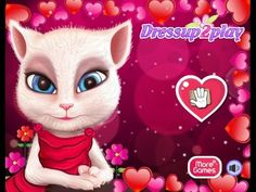 Angela`s Valentine`s Day Makeover - Talking Tom Game Tutorial 2016