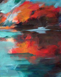 "Saatchi Art Artist Ute Laum; Painting, ""Abstract painting landscape Lichtfaenger (catcher of light))"" #art"