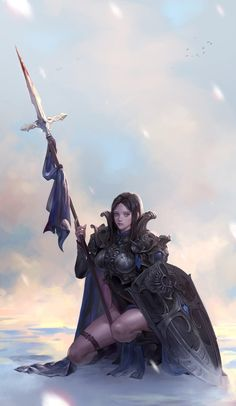 Fantasy Girl, Fantasy Female Warrior, Female Knight, Warrior Girl, Fantasy Women, Female Art, Fantasy Character Design, Character Creation, Character Inspiration
