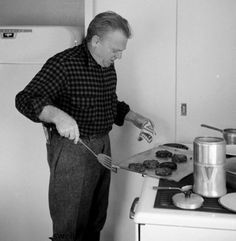 James Cagney at home on Martha's Vineyard, 1955.