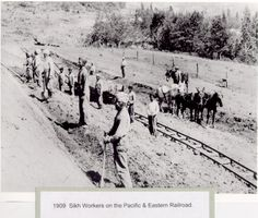 1909 Sikh Workers on the Pacific and Eastern Railroad