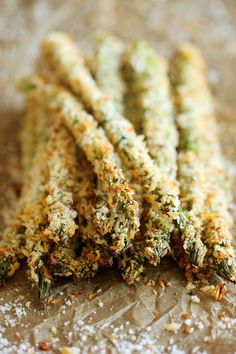 ESPARRAGOS EMPANADOS AL HORNO (Baked Asparagus Fries) #RecetasFaciles #RecetasConEsparragos