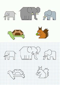 Cornicette per bambini - Cornicette per bambini a quadretti elefante
