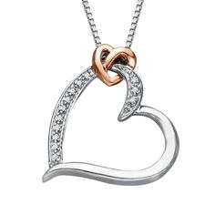 2/2/15 - Heart Pendant with Diamonds in Silver and Gold