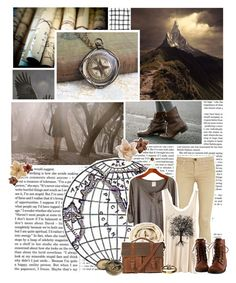 """""""Ilvermorny house: Thunderbird (explorers)"""" by violetrose74 ❤ liked on Polyvore featuring Victoria Beckham, Current/Elliott, Cavallini, H&M, Clips and Forever 21"""