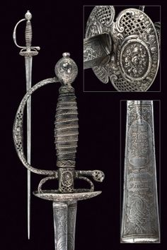 A silver hilted small-sword   provenance:France dating: 18th Century