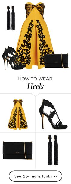 """Untitled #6182"" by tailichuns on Polyvore featuring Oscar de la Renta and Lanvin"