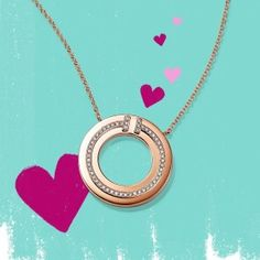 The right circles. Keep your lover in the loop this Valentine's Day. Tap to shop two designs or discover more gift ideas via the… Gifts For Fiance, Gifts For Him, Gifts For Women, Tiffany T, Washer Necklace, Valentines Day, Diamond, Accessories, Jewelry