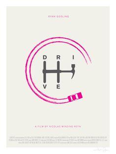 Drive minimalist movie poster by Hunter Langston, via Behance