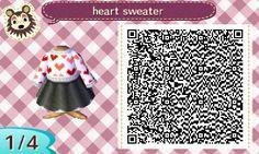 mayor-lia:   my heart sweater & skater skirt for... - Animal Crossing