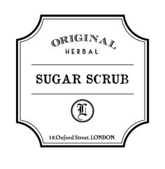 Sugar Scrub Label