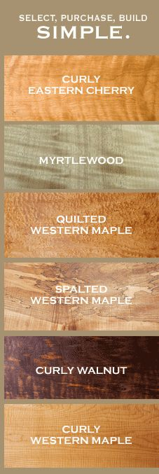 Northwest Timber offers exotic wood lumber including quilted maple, spalted maple and claro walnut.