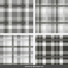 Tartan Pattern, Vector Background, Monochrome, Vector Free, Patterns, Retro Wallpaper, Jute, Baby Girls, Collection