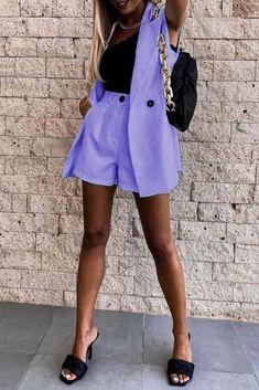 Σύνολο BELURDA PURPLE - Κομψά σύνολα   Ivet.EU Skater Skirt, Mini Skirts, Purple, Fashion, Moda, Fashion Styles, Skater Skirts, Mini Skirt, Fashion Illustrations